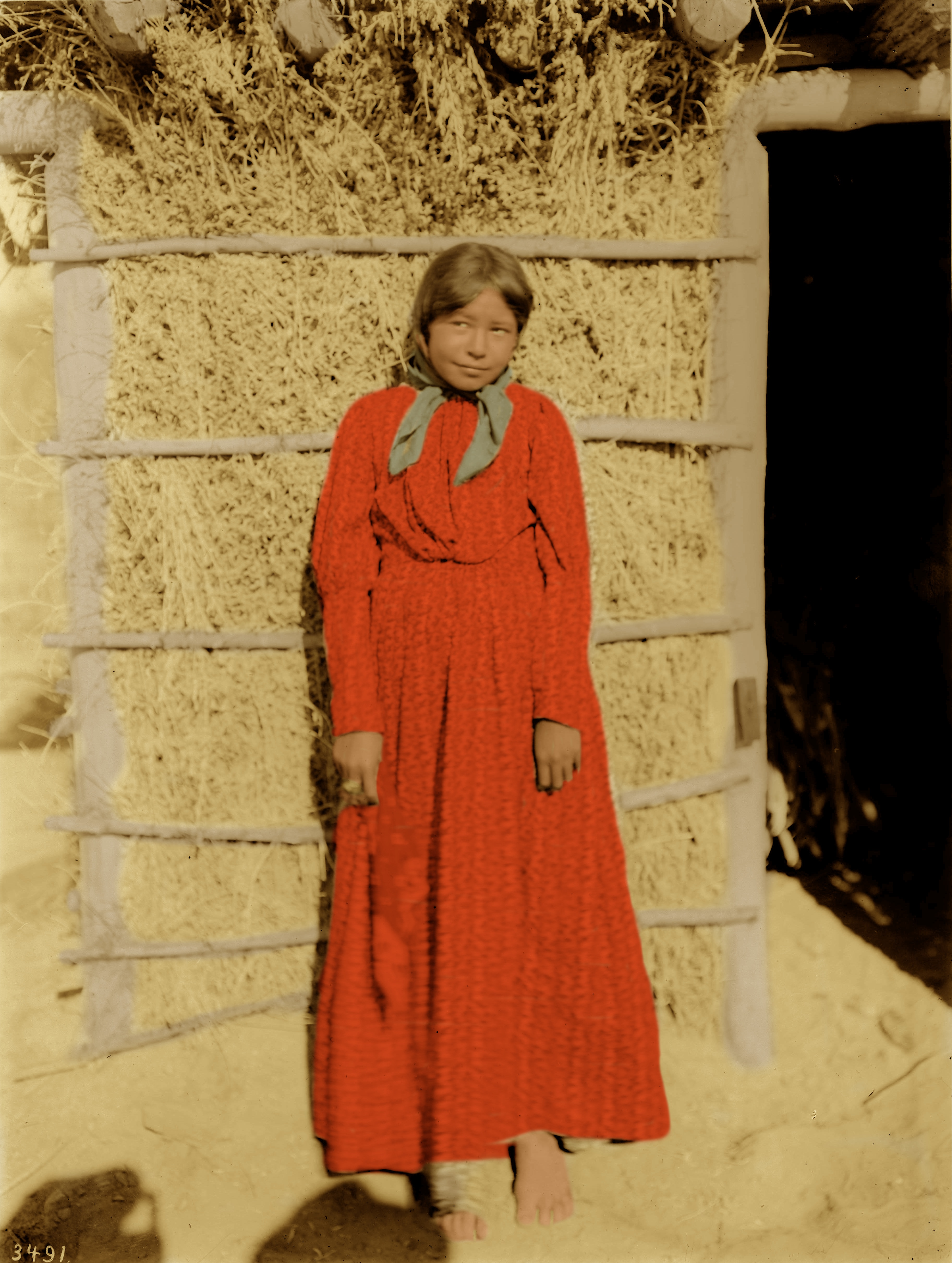 Young Chemehuevi Indian girl, ca.1900  2 Colored Sepia!!.jpeg