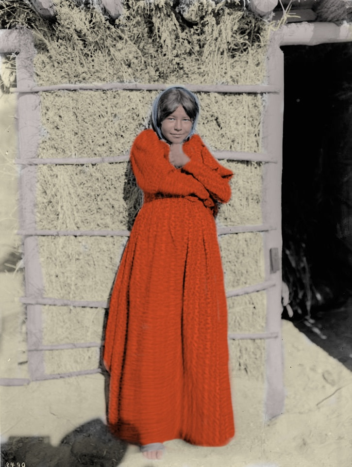 Young Chemehuevi Indian girl, ca.1900 1 Colored.jpeg