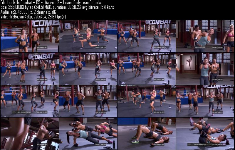 Les Mills Combat ~ 09 ~ Warrior 2 ~ Lower Body Lean Out.jpeg