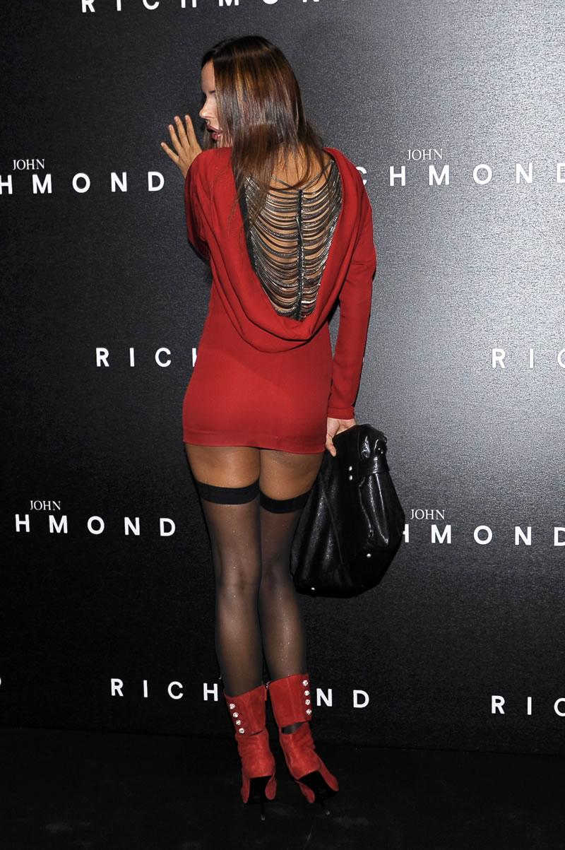 Nina Moric - arriving to the John Richmond SpringSummer.jpg